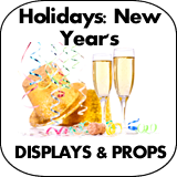 Holidays: New Years Cardboard Cutout