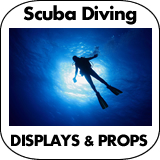 Scuba Diving Cardboard Cutout Standup Props