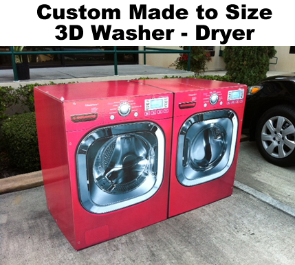 Custom Cardboard Cutout Standup Display Washer Dryer Appliance for Staging and events