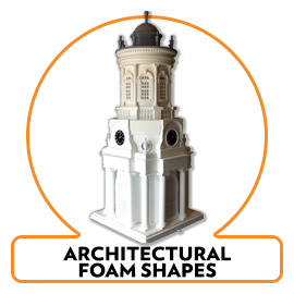ARCHITECTURAL FOAM SHAPES AND DESIGN PROPS