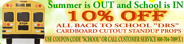 Back to School Cutout Discount Banner