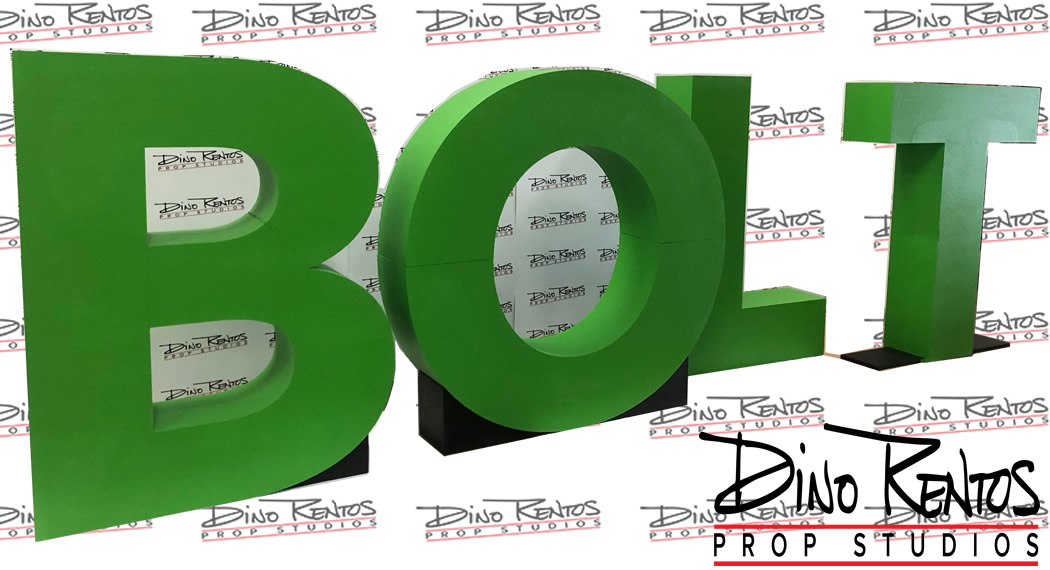 Large Scenic Foam Letters for tradeshows events and retail displays for Intuit