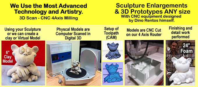 CNC Milled Foam Props and Sculptures