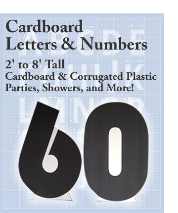 Cardboard Cutout Letters & Numbers