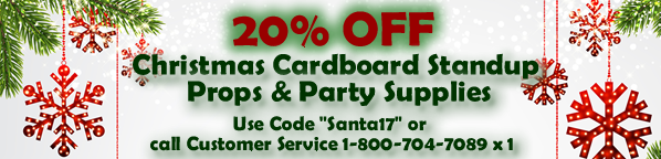 Discounted Christmas Cardboard Standup Props Party Supplies