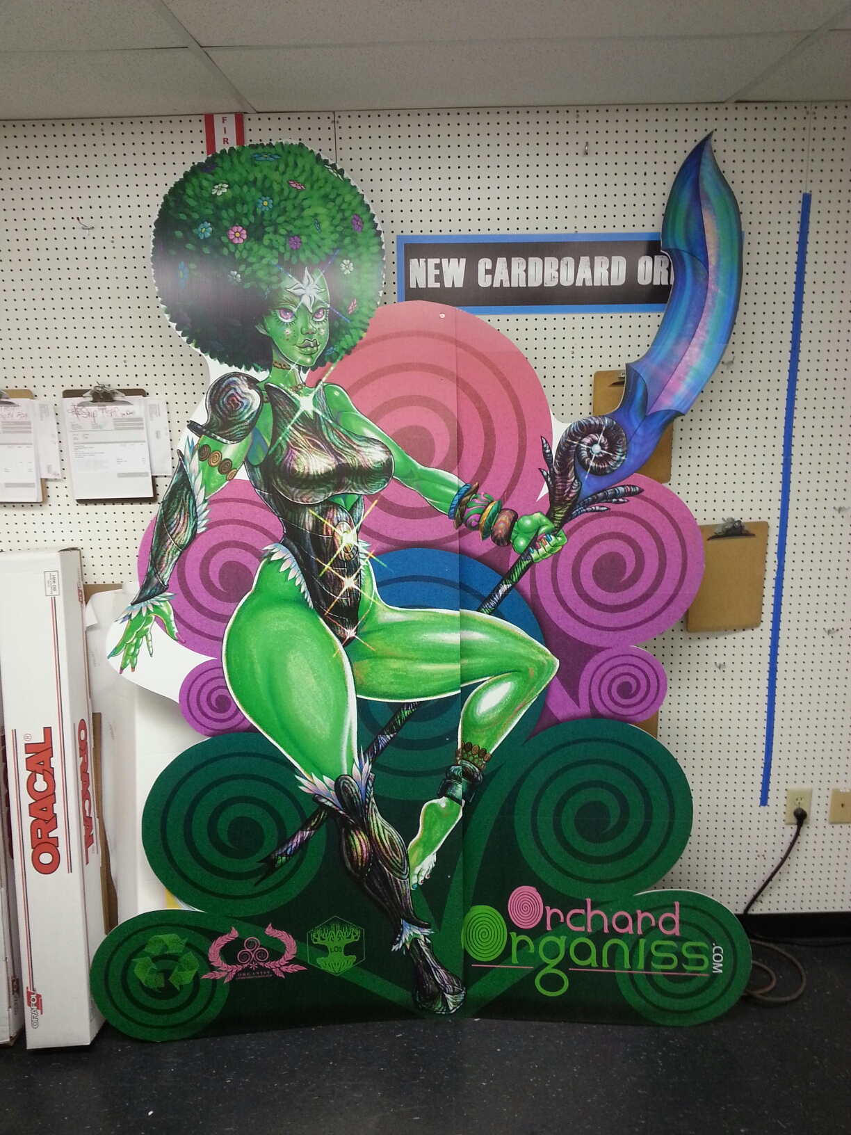 Custom Cardboard Cutout Standup Display Character for Tradeshow Corporate Event