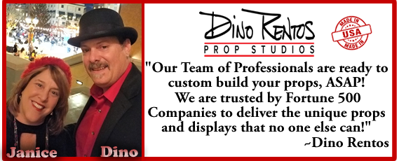 Dino Rentos Prop Studios Custom Props and Display Manufacturer