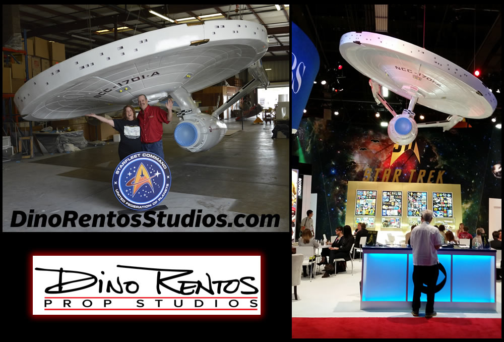Enterprise Star Trek Custom Foam Prop for Tradeshow Displays and Conventions