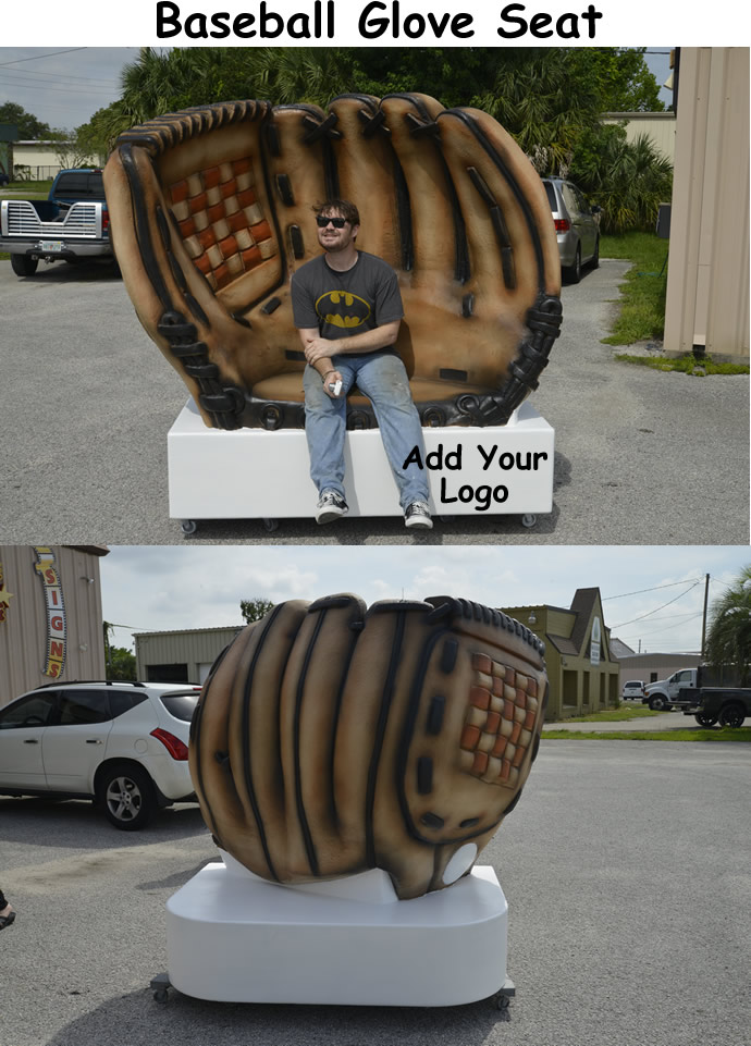 Giant Baseball Glove scenic sculpture prop