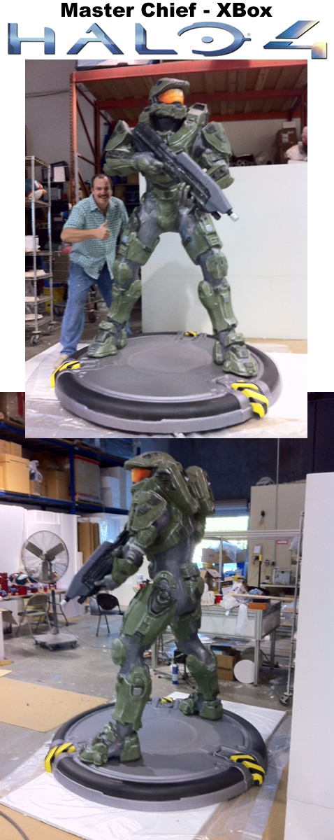 HALO master chief scenic sculpture prop
