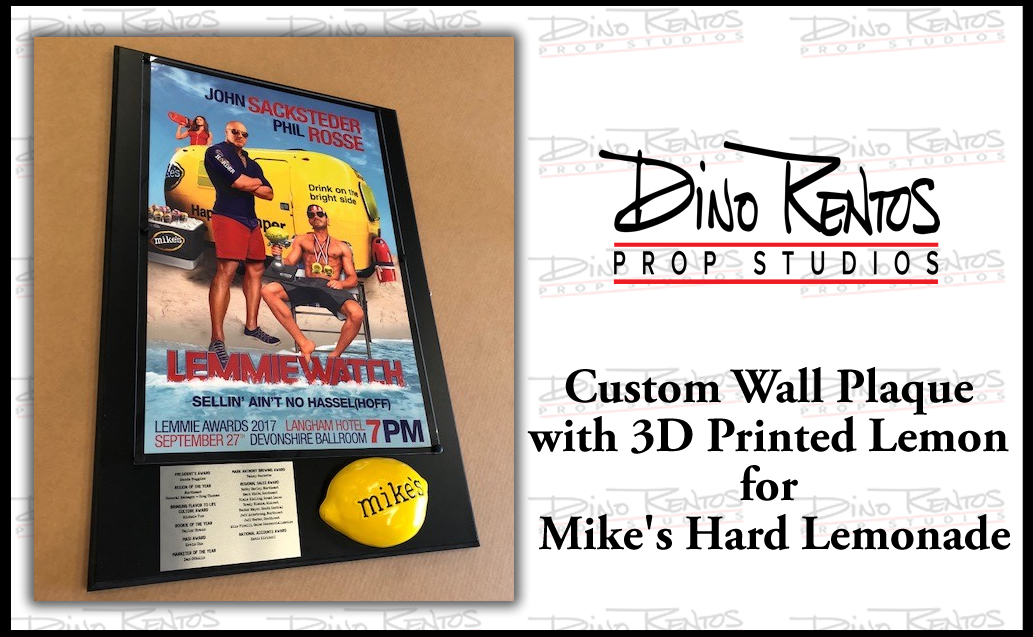 Custom Wall Plaque Award for Mike's Hard Lemonade