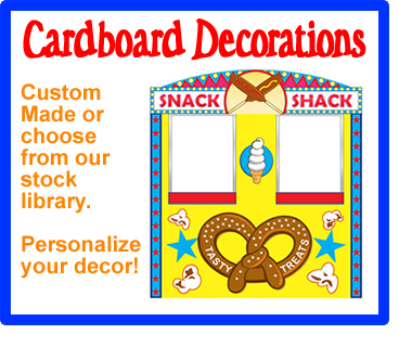 CARDBOARD DECORATIONS
