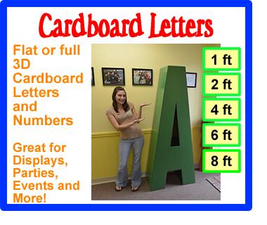 CARDBOARD LETTERS AND NUMBERS