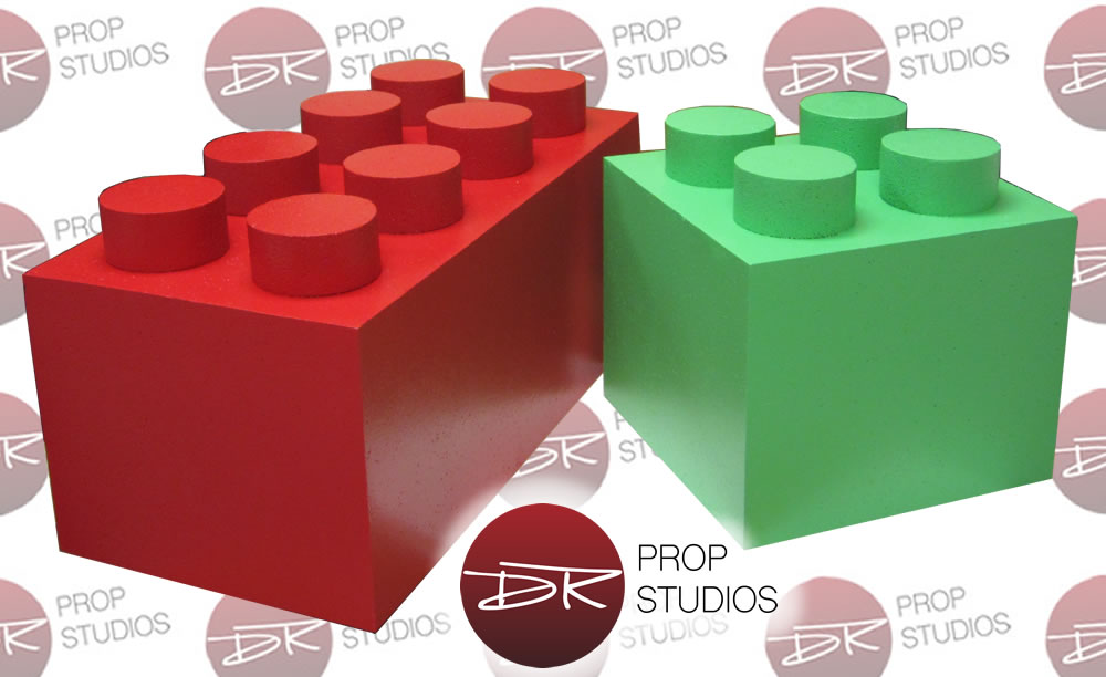 Custom Foam 3D Lego Blocks for tradeshows and retail displays