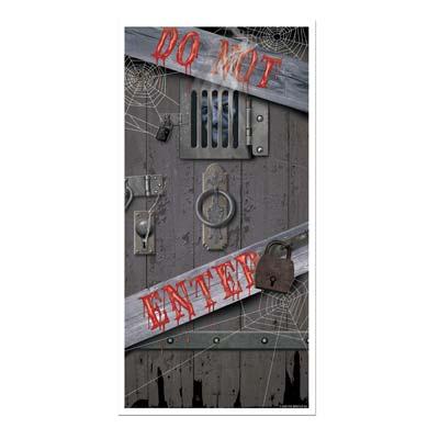 """Haunted Halloween Door Cover 30"""" x 5'"""