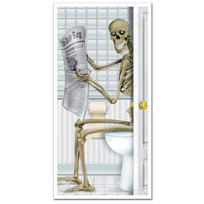 "Skeleton Restroom Door Cover 30"" x 5'"