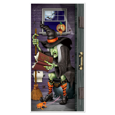"Witch Restroom Door Cover 30"" x 5'"