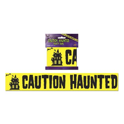 """Caution Haunted Party Tape 3"""" x 20'"""