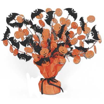 """Bat & Pumpkin Gleam 'N Burst Centerpiece 15"""""""