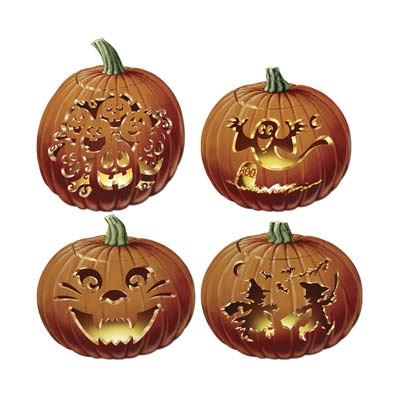 Carved Pumpkin Cutouts 14""
