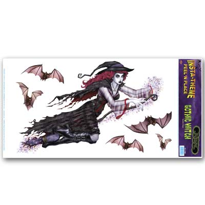 "Gothic Witch Peel 'N Place 12"" x 24"""