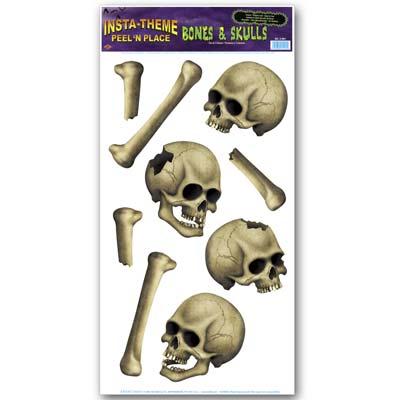 """Skulls & Bones Peel 'N Place 12"""" x 24"""""""