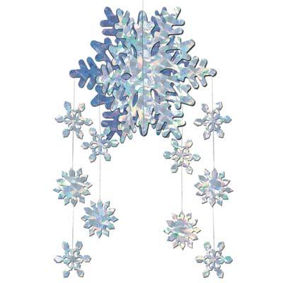 "3-D Snowflake Mobile 22"""