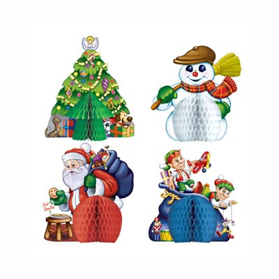 Christmas Playmates Centerpieces 5""
