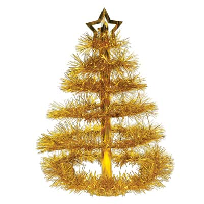 "Christmas Tree Centerpiece 16"" Gold"