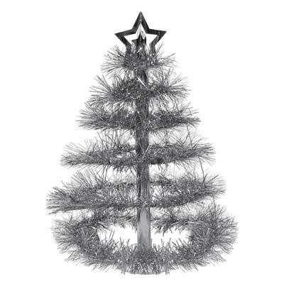 "Christmas Tree Centerpiece 16"" Silver"