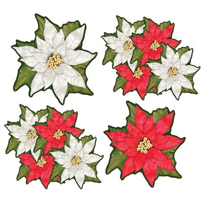 Mini Poinsettia Cutouts 4½""