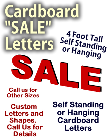 SALE Letters Cardboard Cutout Standup Display