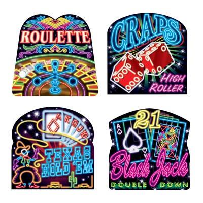 """Neon Casino Cutouts 16"""""""