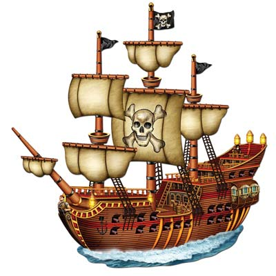 """Jointed Pirate Ship 31"""""""