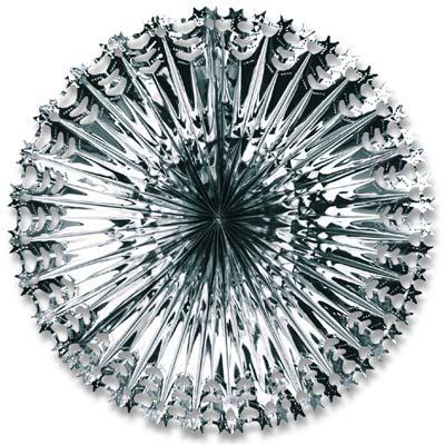 """Deluxe Star Fan 24"""" Silver"""