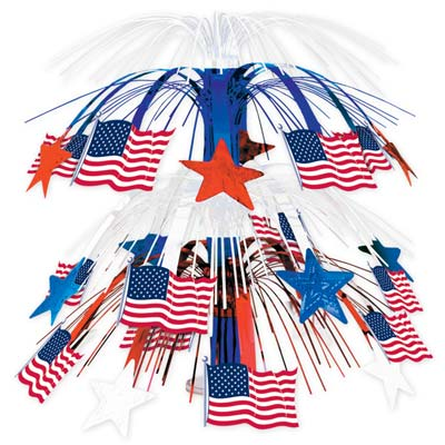 Flag Cascade Centerpiece 18""