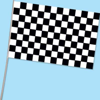 "Checkered Flag - Plastic 11"" x 17"""