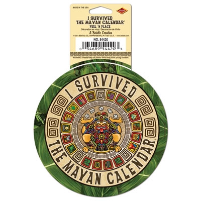 I Survived The Mayan Calendar Peel 'N Place