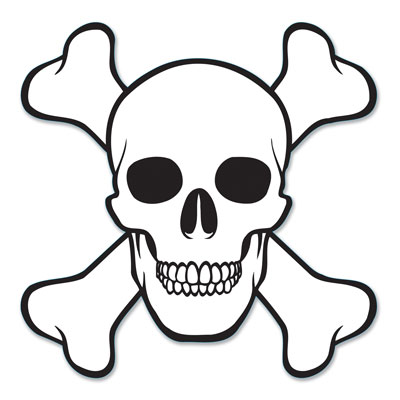 "Skull & Crossbones Cutout 16"""