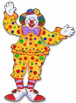 """Jointed Circus Clown 30"""""""