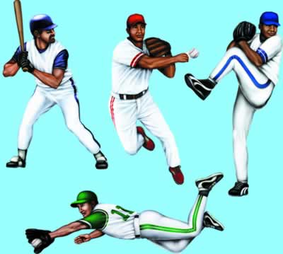 "Baseball Cutouts 20"""