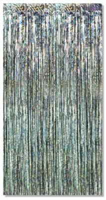 Metallic Fringe Curtains 8' x 3'