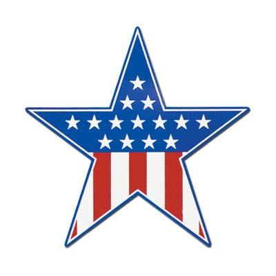 "Patriotic Star Cutout 15"""