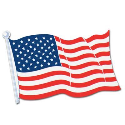 """American Flag Cutout 25"""""""