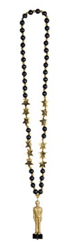 Beads With Awards Night Statuette 36""