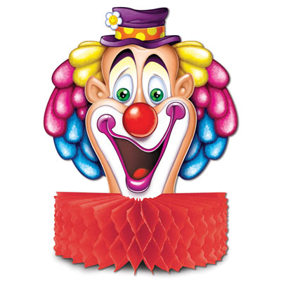 Clown Centerpiece 10""