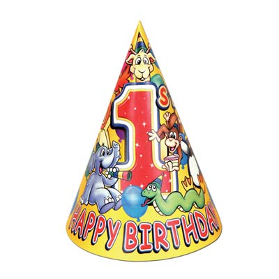 "1st Birthday Hat 7"""