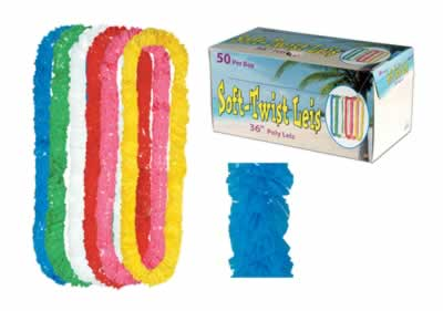 Soft-Twist Poly Leis With Printed Retail Carton