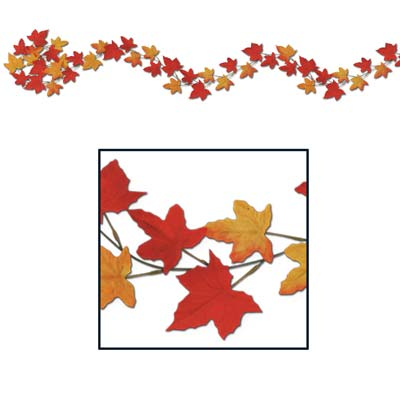 Autumn Leaf Garland 6'