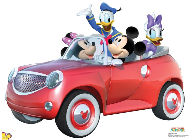 Mickey Car Ride - Mickey Mouse Clubhouse Cardboard Cutout Standup Prop